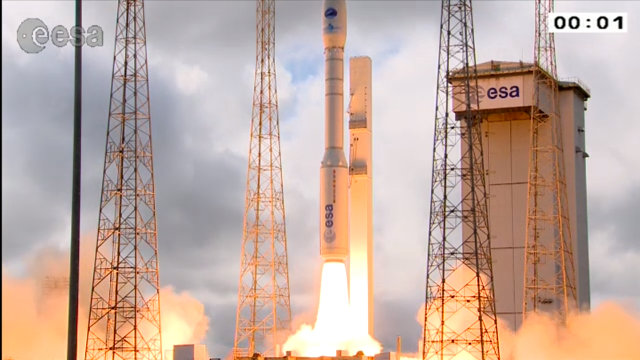 IXV lifting off atop a Vega rocket (Image ESA)