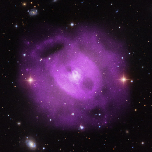 The galaxy group NGC 5813 observed with the Chandra X-Ray Observatory (Image X-ray: NASA/CXC/SAO/S.Randall et al., Optical: SDSS)