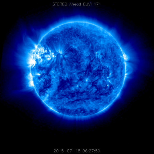 Picture of the Sun taken by the STEREO-A space probe (Photo NASA/STEREO)
