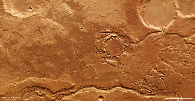 Picture of Mangala Valles on Mars taken by ESA's Mars Express space probe (Photo ESA/DLR/FU Berlin)