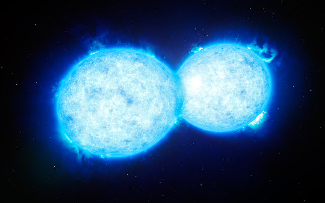 Artistic impression of the VFTS 352 stars (Image ESO/L. Calçada)