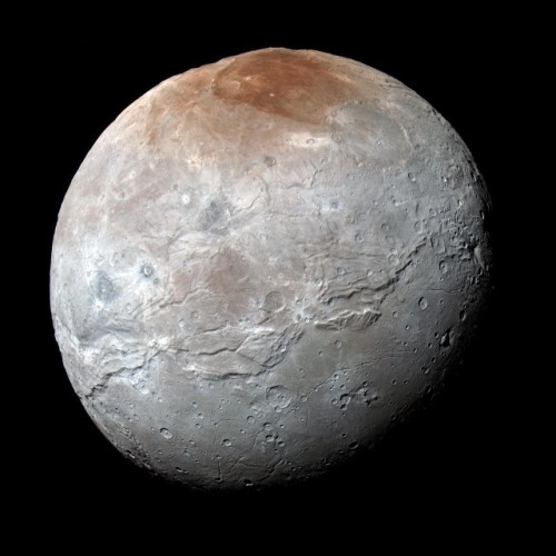 Picture of Charon take by NASA's New Horizons space probe (Image NASA/JHUAPL/SwRI)