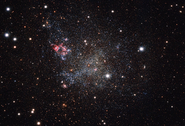 The dwarf galaxy IC 1613 photographed by the OmegaCAM on ESO's VST (Image ESO)