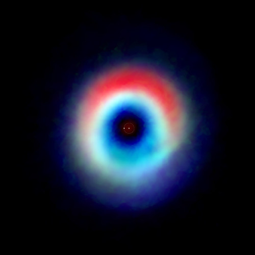 An image of the HD 142527 binary star system from observations made with the ALMA radio telescope (Image Andrea Isella/Rice University; B. Saxton (NRAO/AUI/NSF); ALMA (NRAO/ESO/NAOJ)