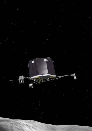 Artist's impression of the Philae lander (Image ESA–J. Huart)