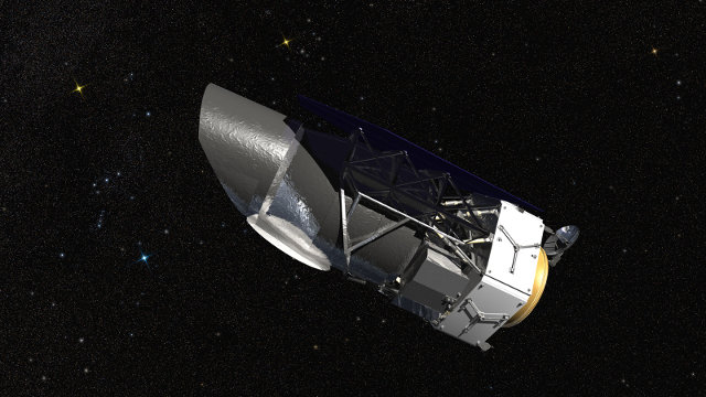 Artistic representation of the WFIRST Space Telescope (Image NASA/GSFC/Conceptual Image Lab)