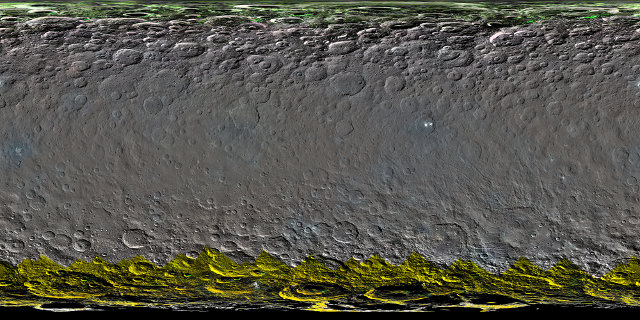 Color global map of Ceres (Image NASA/JPL-Caltech/UCLA/MPS/DLR/IDA)