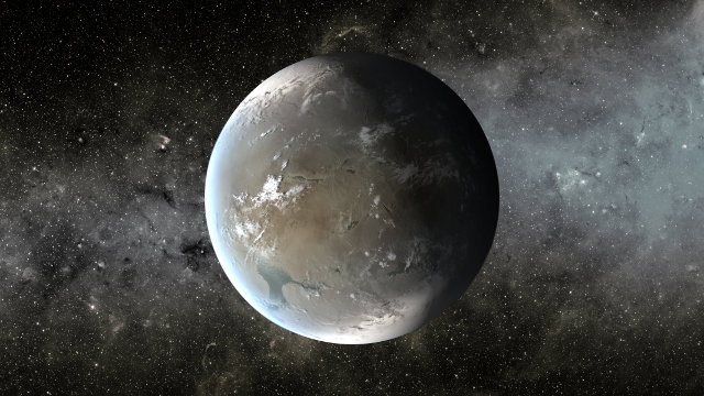 Artistic concept of what the planet Kepler-62f might look like (Image NASA Ames/JPL-Caltech/T. Pyle)