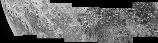 Faults on Pluto's surface (Image NASA/JHUAPL/SwRI)