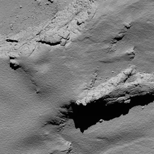 One of the last pictures sent by Rosetta (Image ESA/Rosetta/MPS for OSIRIS Team MPS/UPD/LAM/IAA/SSO/INTA/UPM/DASP/IDA)