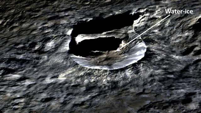 A perspective view of Oxo crater on Ceres (Image NASA/JPL-Caltech/UCLA/MPS/DLR/IDA)