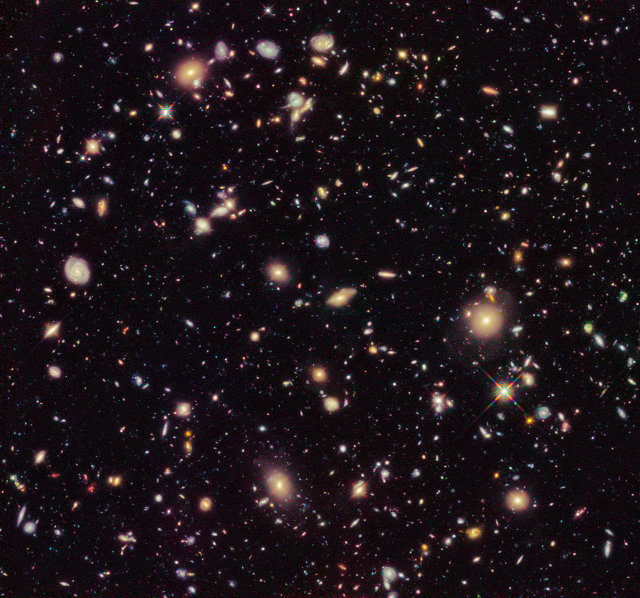 The Hubble Ultra Deep Field 2012 (Image NASA, ESA, R. Ellis (Caltech), and the HUDF 2012 Team)