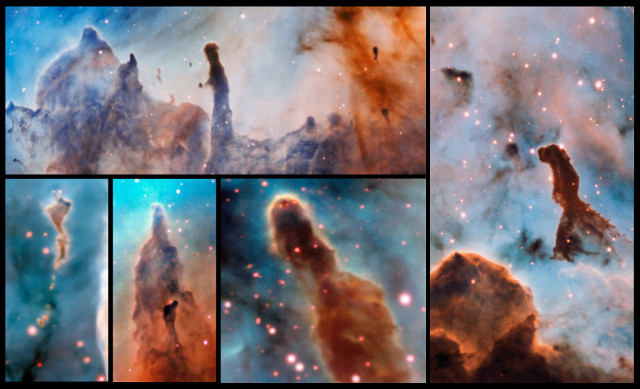 Pillars within the Carina Nebula (Image ESO/A. McLeod)