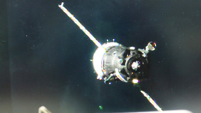 The Soyuz MS-03 spacecraft approaching the International Space Station (Image NASA TV)