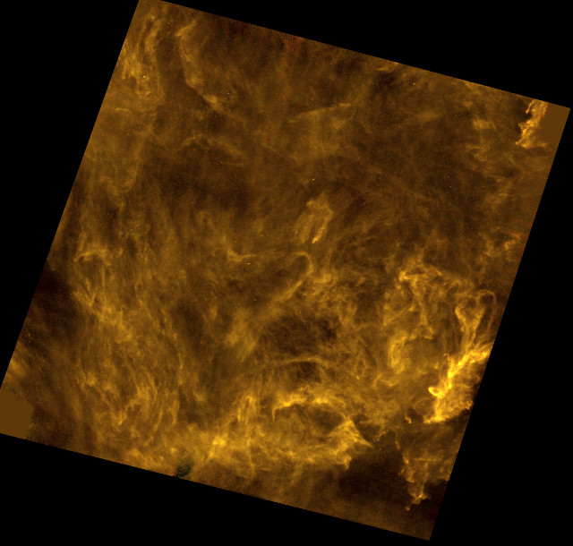Interstellar filaments in Polaris (Image ESA and the SPIRE & PACS consortia, Ph. André (CEA Saclay) for the Gould's Belt Survey Key Programme Consortium, and A. Abergel (IAS Orsay) for the Evolution of Interstellar Dust Key Programme Consortium)