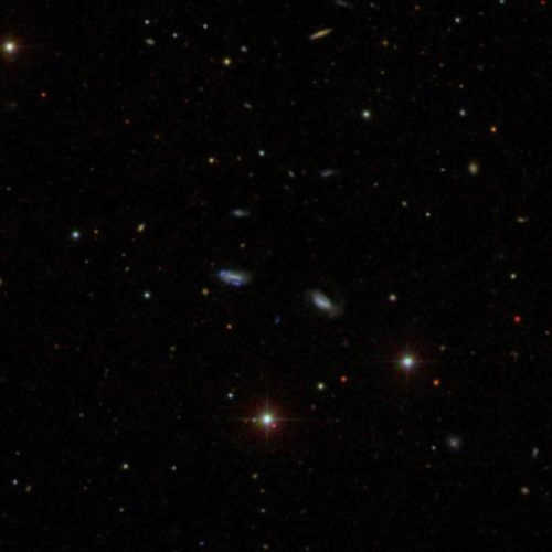 A group of dwarf galaxies (Image courtesy Sloan Digital Sky Survey)