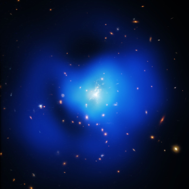 Phoenix Cluster (Image NASA/Chandra Space Telescope)