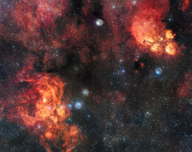 NGC 6334 and NGC 6357 (Image ESO)