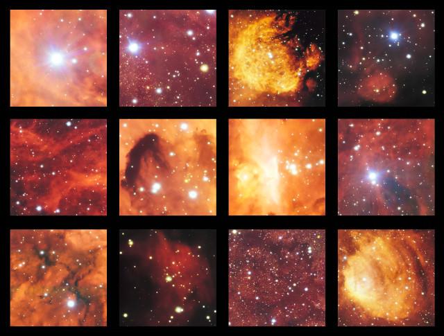 Highlights of NGC 6334 and NGC 6357 (Image ESO)