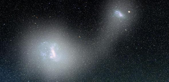 The Magellanic Clouds (Image V Belokurov, D Erkal, A Mellinger)