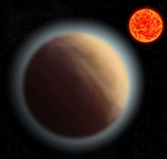 Artistic concept of the exoplanet GJ 1132b and its star (Image courtesy MPIA)