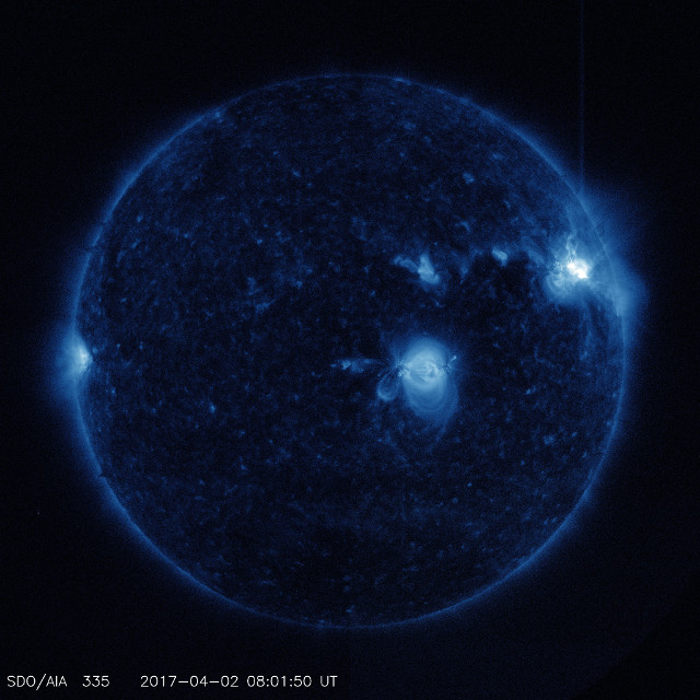 The Sun right before the first flare's peak (Photo NASA/SDO)