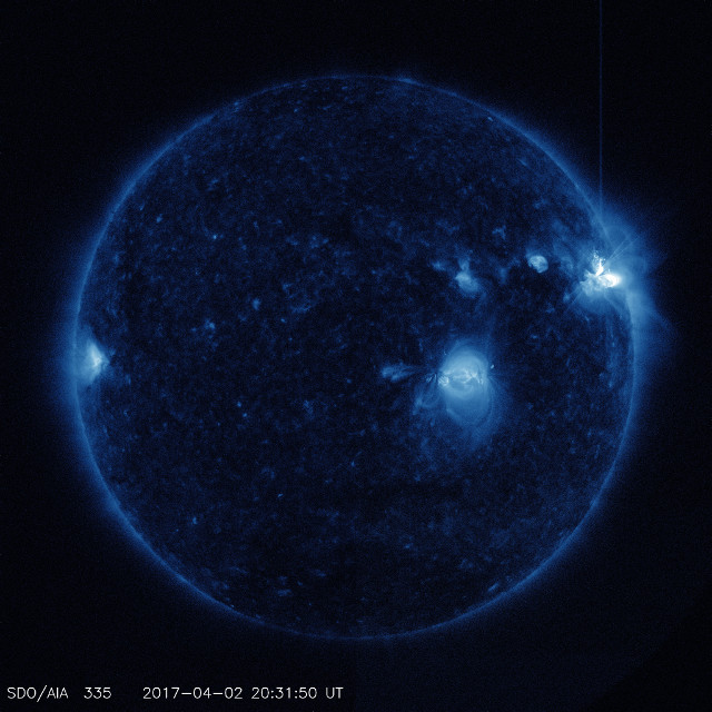 The Sun at the second flare's peak (Photo NASA/SDO)