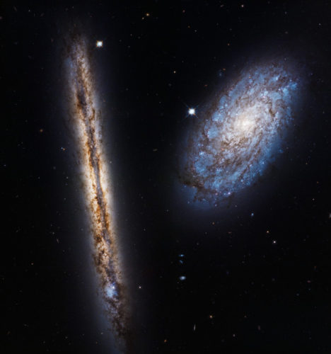 The galaxies NGC 4302 and NGC 4298 (Photo NASA, ESA, and M. Mutchler (STScI))