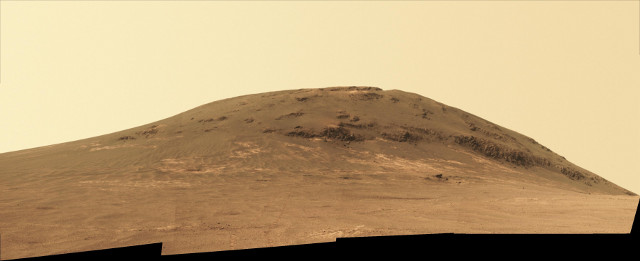 The Mars Rover Opportunity looking back at Cape Tribulation (Image NASA/JPL-Caltech/Cornell/Arizona State Univ.)