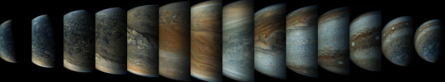 Variability of Jupiter's surface (Image NASA/SWRI/MSSS/Gerald Eichstadt/Sean Doran)