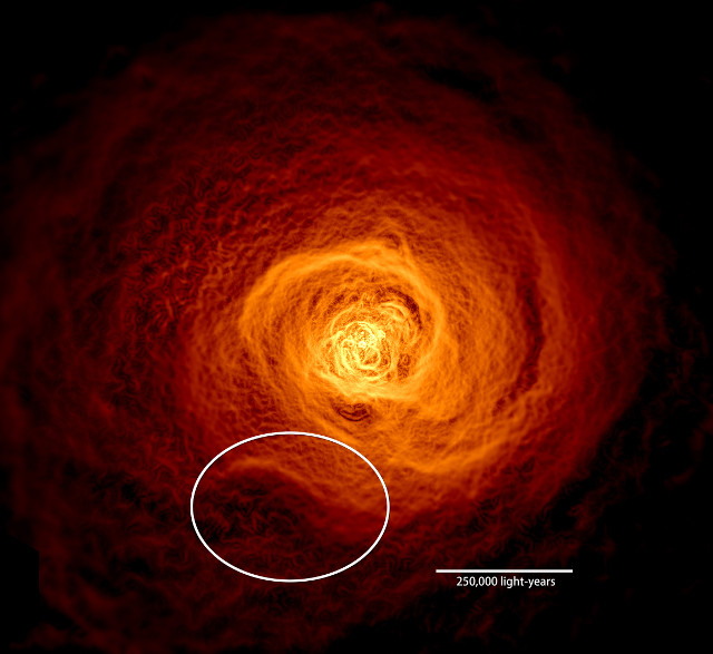 X-ray image of the hot gas in the Perseus galaxy cluster (Image NASA's Goddard Space Flight Center/Stephen Walker et al.)