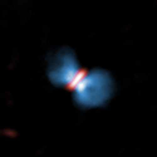Orion KL Source I seen by ALMA (Image ALMA (ESO/NAOJ/NRAO), Hirota et al.)