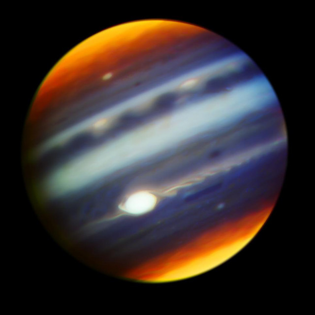 Jupiter seen by the Gemini North telescope (Photo Gemini Observatory/AURA/NASA/JPL-Caltech)