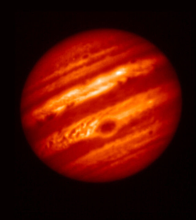 Jupiter seen by the Subaru telescope (Photo NAOJ/NASA/JPL-Caltech)