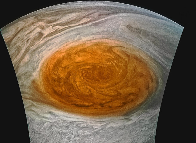 Jupiter's Great Red Spot (Photo NASA/JPL-Caltech/SwRI/MSSS/Jason Major)