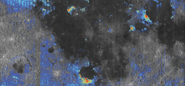Ancient volcanic deposits on the Moon (Image courtesy Milliken lab / Brown University)