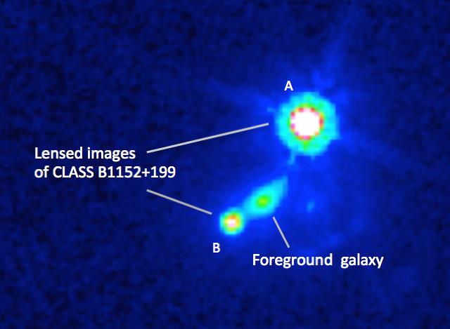 Gravitational lensing effect seen by the Hubble Space Telescope (Image Mao et al., NASA)