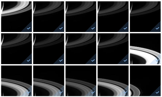 The last pictures of Saturn's rings taken by the Cassini space probe (Image NASA/JPL)