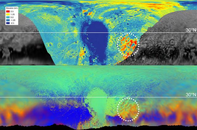 Pluto's maps (Image NASA/JHUAPL/SwRI/LPI)