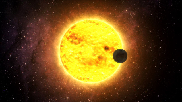 Artist's concept of ultra-short-period exoplanet and its star (Image NASA's Goddard Space Flight Center / TESS / MIT / Lincoln Laboratory)