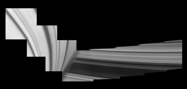 Some details of Saturn rings (Image NASA/JPL-Caltech/Space Science Institute)