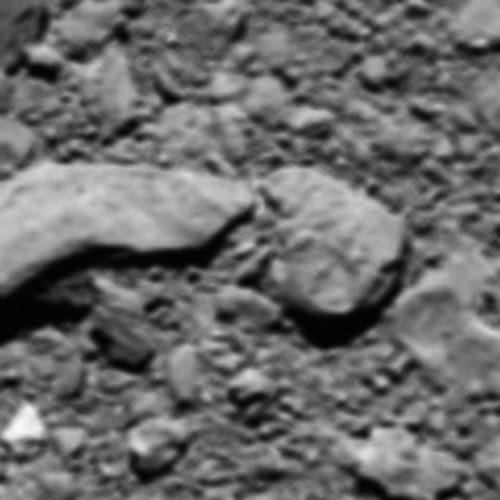 Reconstructed last image from Rosetta (Image ESA/Rosetta/MPS for OSIRIS Team MPS/UPD/LAM/IAA/SSO/INTA/UPM/DASP/IDA)