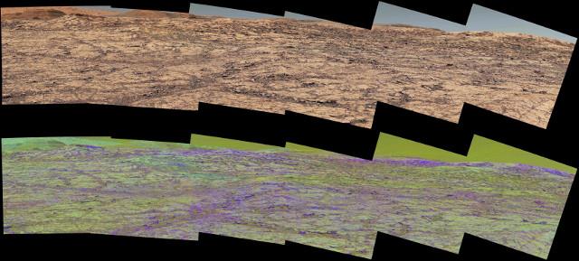 Vera Rubin Ridge panorama (Image NASA/JPL-Caltech/MSSS/ASU)
