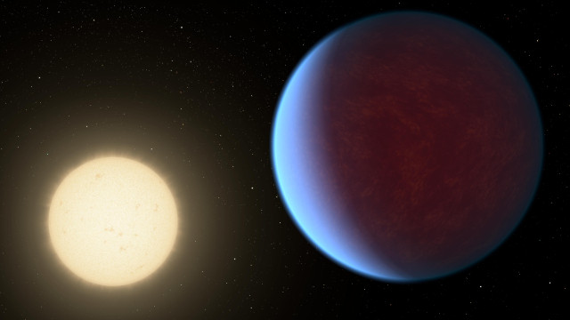 Artist's concept of the exoplanet 55 Cancri e and its star (Image NASA/JPL-Caltech)