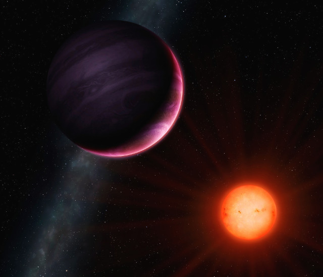 Artist's impression of the planet NGTS-1b and its star (Image University of Warwick/Mark Garlick)