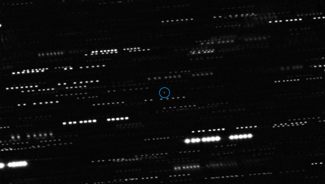 Iinterstellar asteroid 'Oumuamua observed by VLT and other telescopes (Image ESO/K. Meech et al.)