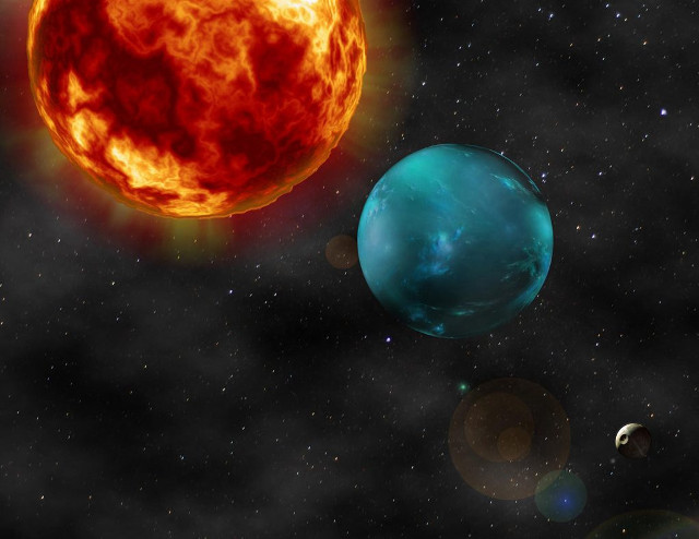 There are two super-Earths in the K2-106 star system, one of which