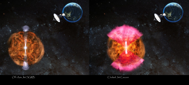 Scenarios after the kilonova (Image NRAO/AUI/NSF: D. Berry)