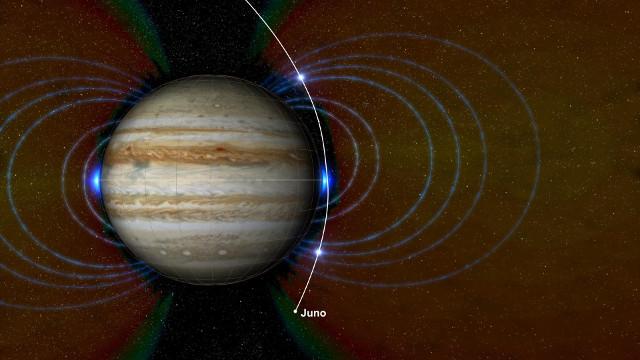 Jupiter and the new radiation zone (Image NASA/JPL-Caltech/SwRI/JHUAPL)