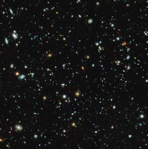 Hubble Ultra Deep Field galaxies seen by MUSE (Image ESO/MUSE HUDF collaboration)
